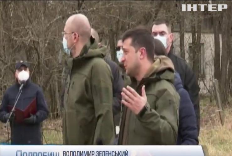 Володимир Зеленський відвідав Зону відчуження та вручив нагороди ліквідаторам