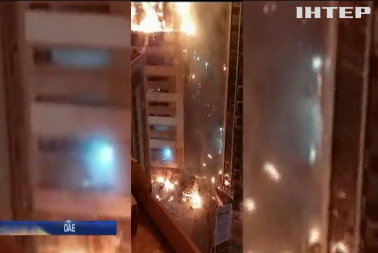 В ОАЄ загорівся 48-поверховий хмарочос Abbco Tower