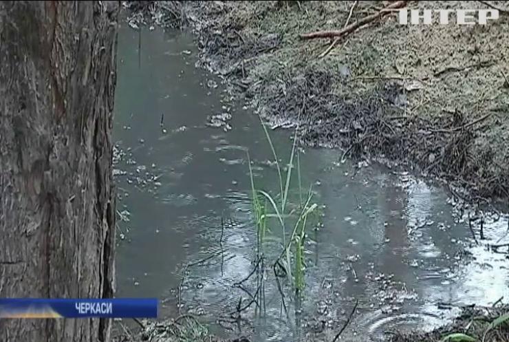 """На Черкащині підприємство """"збагачує"""" ліс нечистотами"""