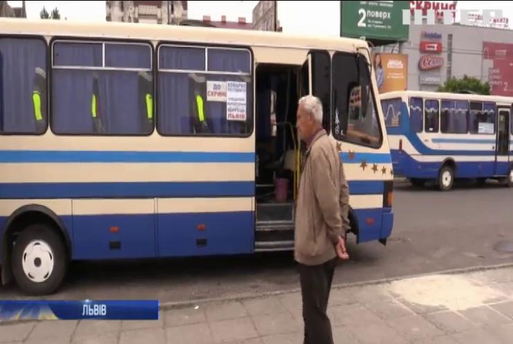На Львівщині автоперевізники проігнорували карантин і вийшли на маршрути