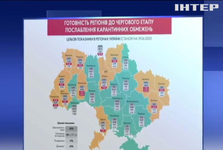 В Україні зменшилась кількість випадків зараження коронавірусом