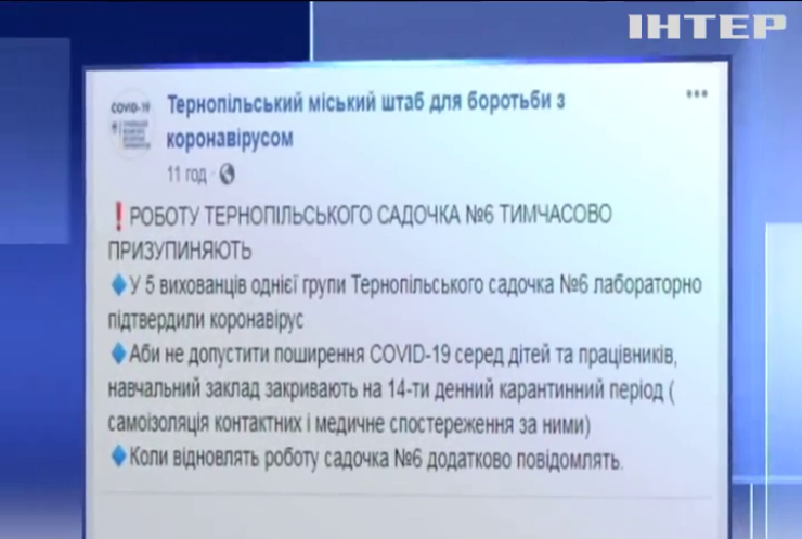 У Тернополі через спалах коронавірусу закрили дитсадок