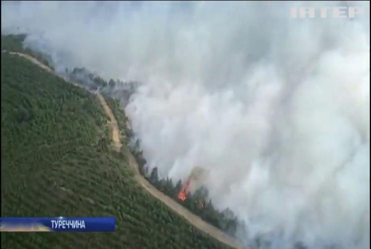 Пожежі у Туреччині перекрили рух Дарданеллами