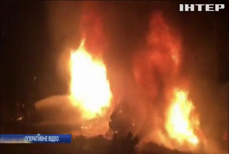 На Черкащині розбився і згорів бензовоз