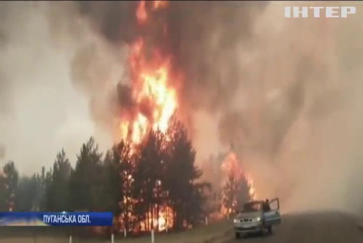 Пожежу на Луганщині ліквідували