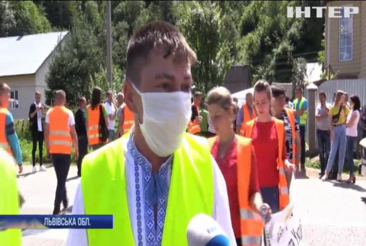 Селяни Львівщини вимагають поремонтувати дороги