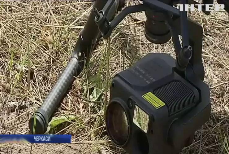 Шукачі мін: на Черкащині тестують квадрокоптери-сапери