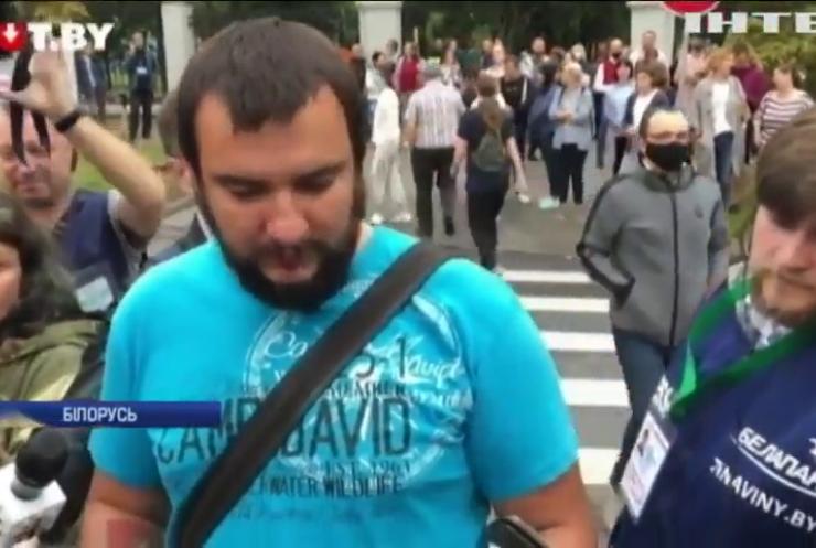 У білоруському Гродно проти демонстрантів застосували сльозогінний газ