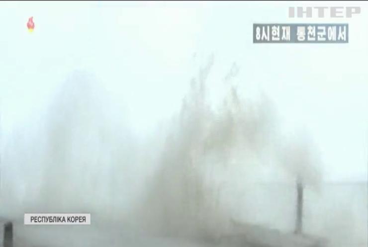 """Нищівний тайфун """"Майсак"""" накрив Корею та Японію"""