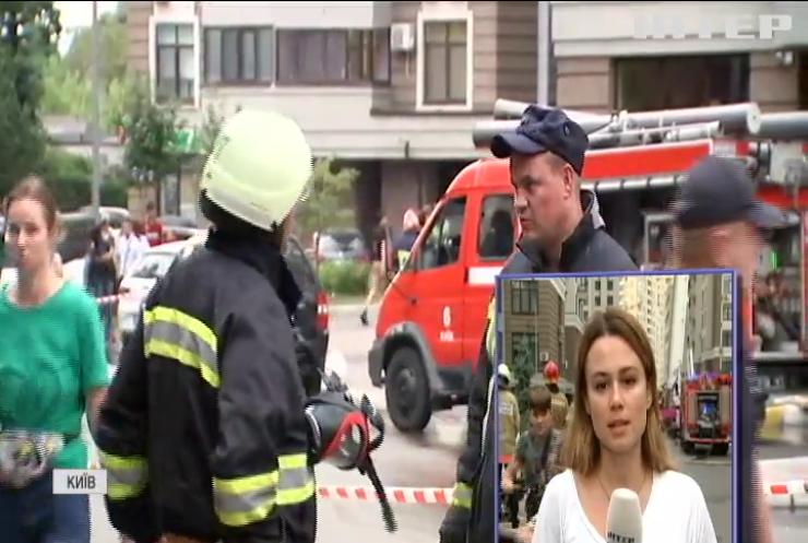У Києві загорілася 25-поверхівка біля посольства США