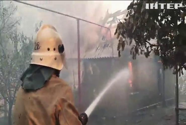 На Луганщині намагаються локалізувати масштабні лісові пожежі