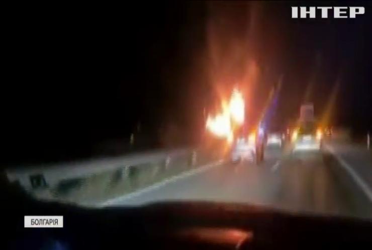 У Болгарії спалахнув пасажирський автобус