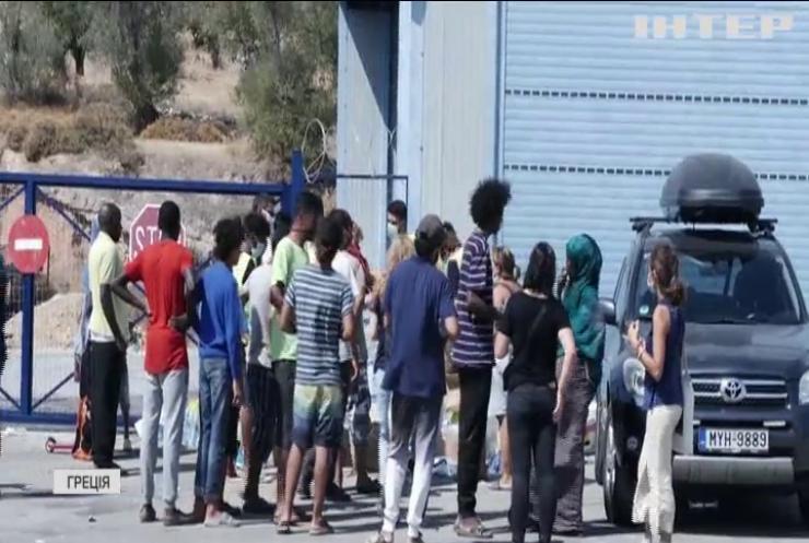 У Греції на військовому полігоні звели табір для біженців
