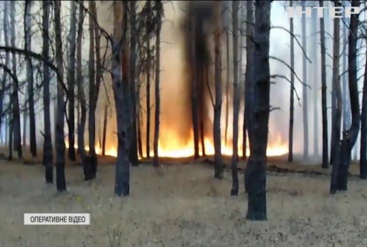 На Луганщині знову спалахнули масштабні пожежі