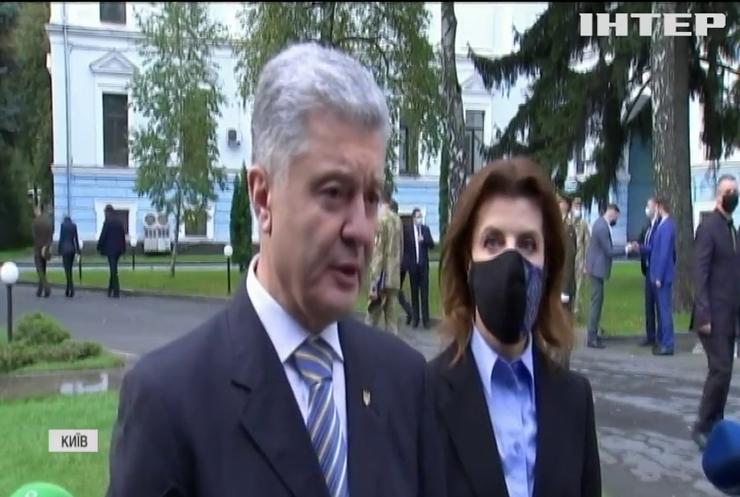 Петро Порошенко разом з дружиною вшанував пам'ять загиблих воїнів