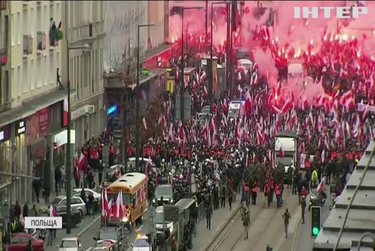 У Варшаві поліція застосувала сльозогінний газ проти демонстрантів
