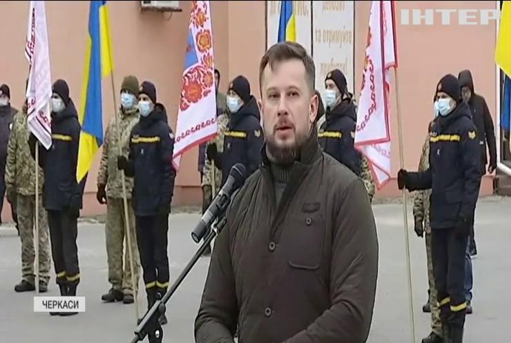 """У Черкасах за підтримки """"Національного корпусу"""" відкрили меморіал полеглим воїнам АТО"""