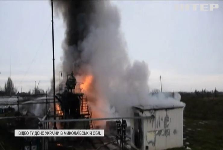 Пожежа чи підпал: на Миколаївщині горіла нафтобаза