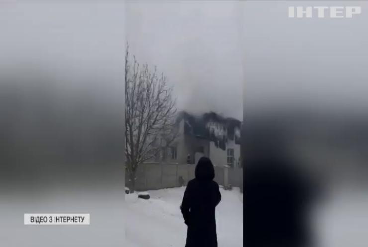 У Харкові загорівся будинок для літніх людей