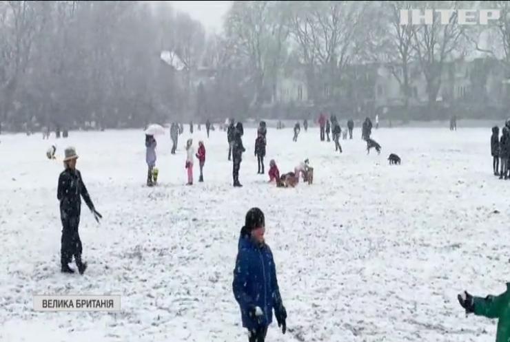 Британці радіють снігу та морозу