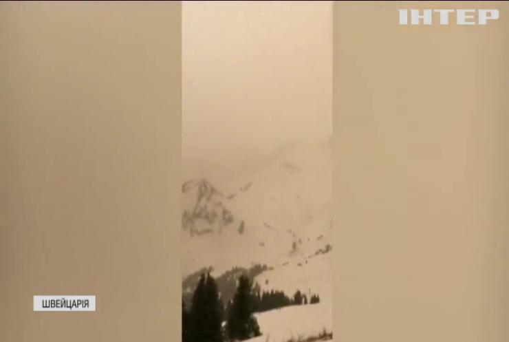 Курорти Альп заволокло пісками Сахари