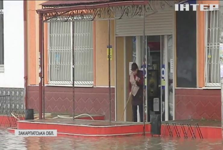 На Закарпатті рівень грунтових вод піднявся більше ніж на 2 метри