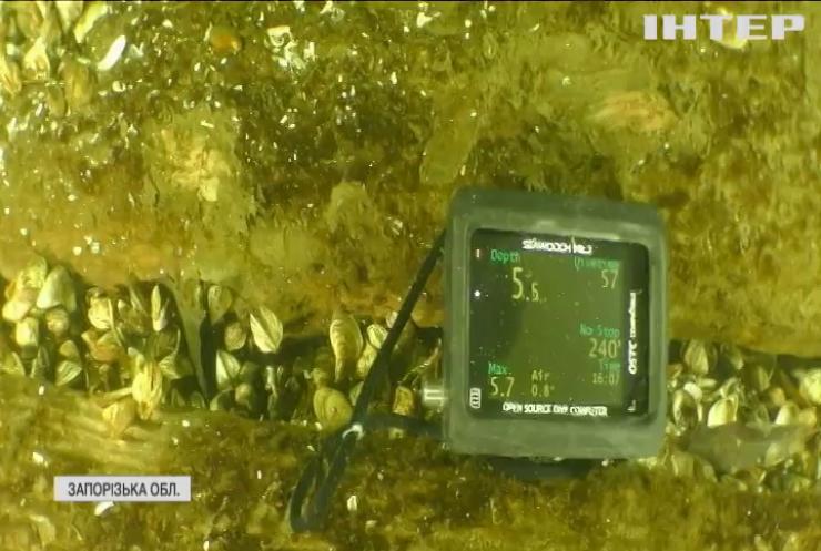 Науковці досліджують затонулі історичні пам'ятки поблизу острова Хортиця
