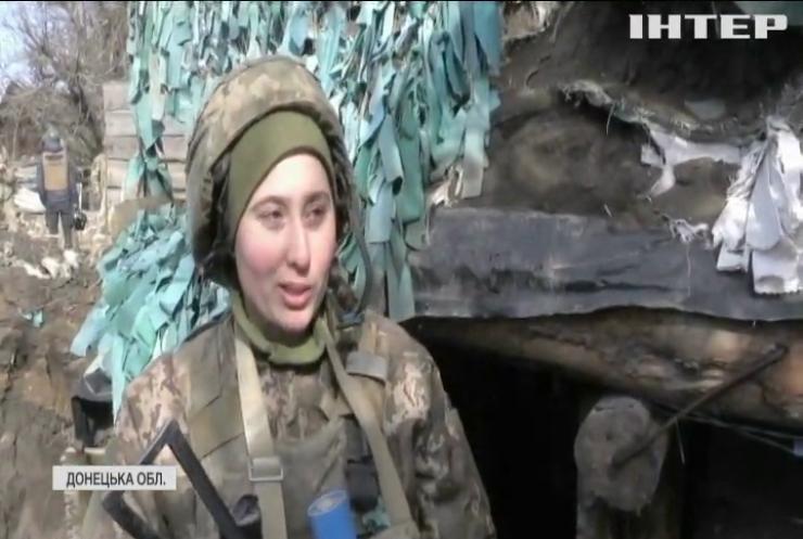Зі святом весни жінок на фронті привітали бойові побратими