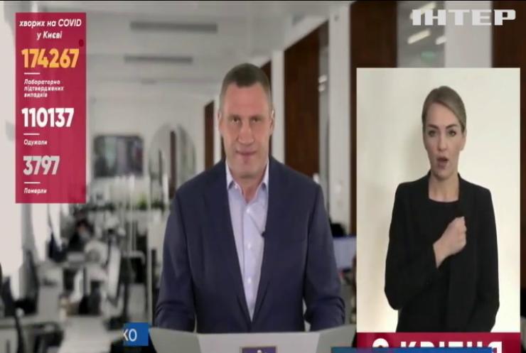 Віталій Кличко закликав запровадити загальнонаціональний локдаун в Україні