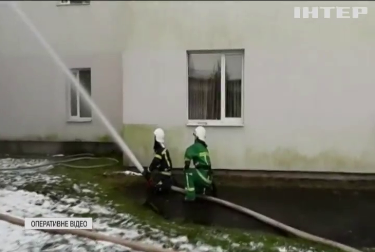 На Івано-Франківщині горіла ковід-лікарня