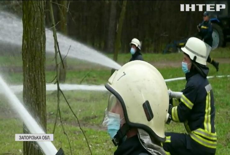У Запоріжжі провели масштабні тренування рятувальників