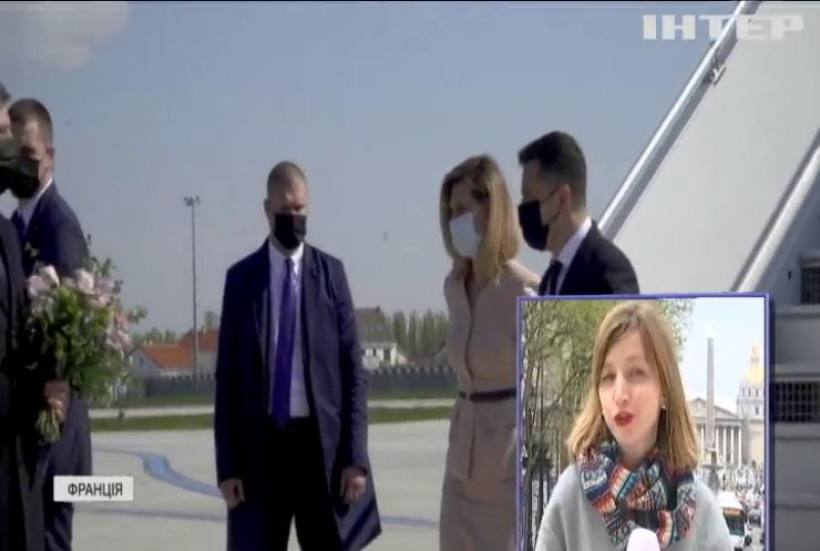 Зеленський та Макрон обговорюють ситуацію на Донбасі