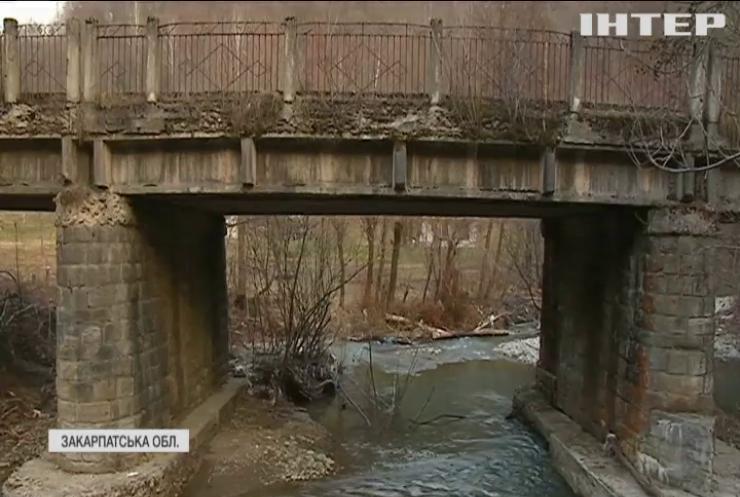 Село на Закарпатті ризикує залишитися в ізоляції через аварійний міст