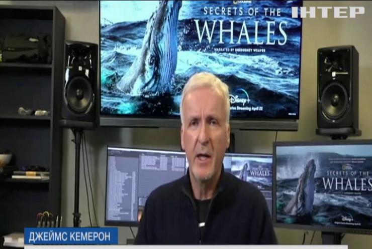 """""""Таємниці китів"""": Джеймс Кемерон підготував новий фільм до Всесвітнього дня Землі"""