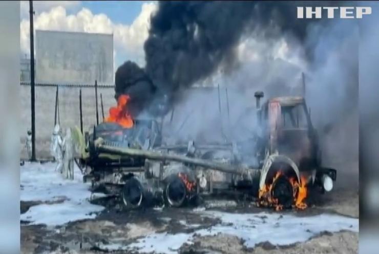 У військовій частині на Луганщині згоріли бензовози