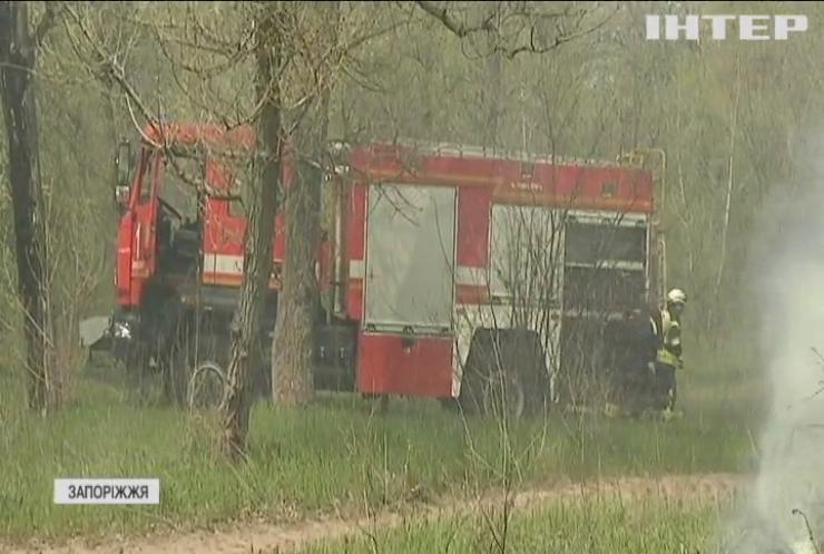 """Пожежні навчання: рятувальники Запоріжжя готуються до """"сезону шашликів"""""""
