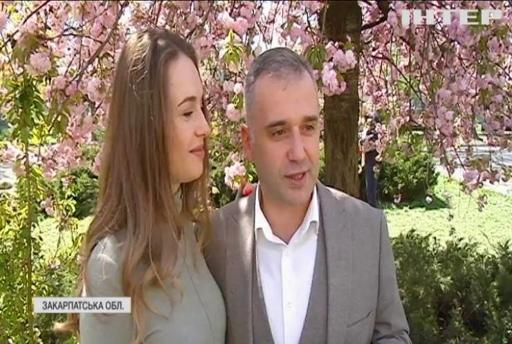 Цвітіння сакур: Ужгород перетворився на екзотичний вишневий сад