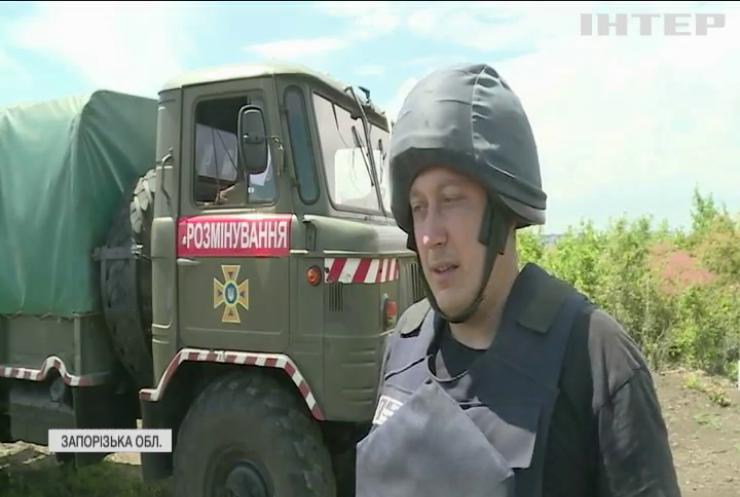 У Бердянську під час земельних робіт відкопали гігантський арсенал боєприпасів