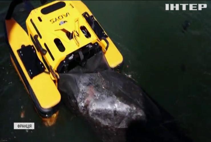 Робот-ненажера поглинає сміття у французькому порту (відео)