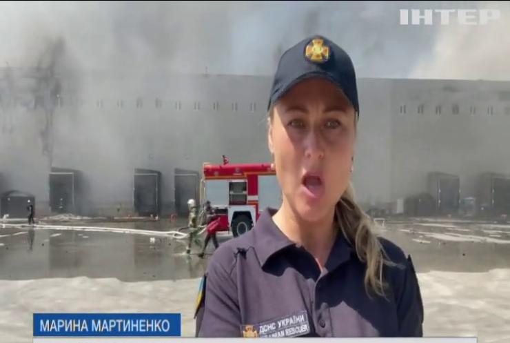 На Одещині спалахнули склади мережі супермаркетів