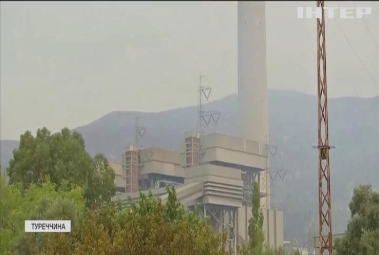 Турецькі рятувальники відбили від полум'я вугільну електростанцію в провінції Мугла