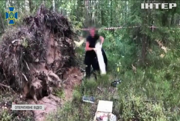 СБУ знайшла схрон зброї на кордоні з Білоруссю