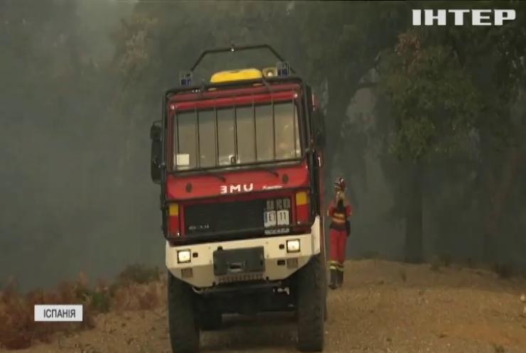 Іспанська провінція Малага вже тиждень потерпає від пожеж
