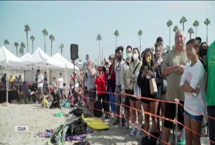 Каліфорнійські собаки-серфери змагались за кубок