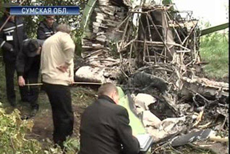 В Сумской области разбился самолет