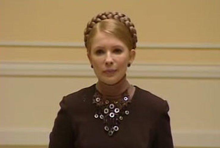 Тимошенко: Из-за рецессии бюджет может недосчитаться средств