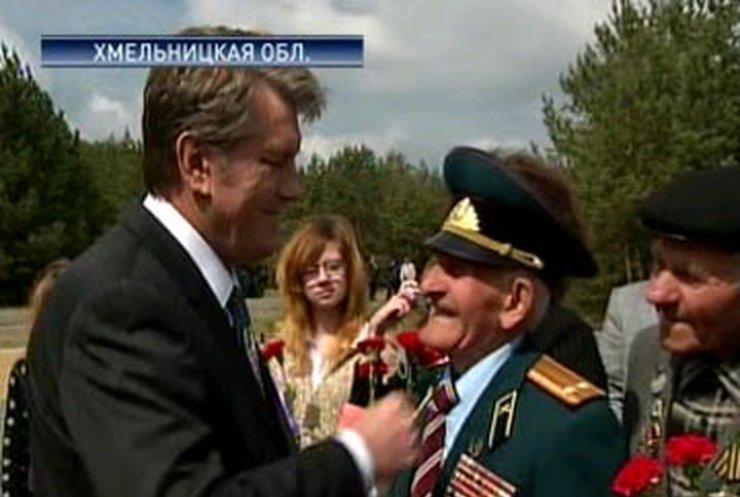В городе Славута перезахоронили останки советских военнопленных