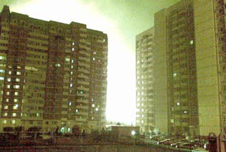В Москве мощный пожар из-за разрыва газопровода