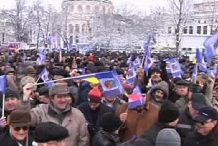 В Румынии военные пенсионеры провели массовые пикеты