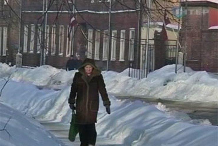 Прибалтику сковали лютые морозы до минус 30-ти градусов